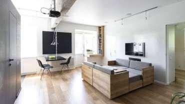 Thiết kế nội thất phòng khách chật hẹp phong cách tối giản