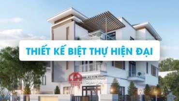 Mẫu thiết kế nhà biệt thự hiện đại đẹp, biệt thự phố mới
