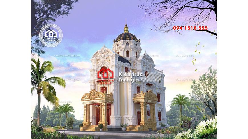 Thi công biệt thự lâu đài kiểu Pháp 2 mặt tiền ở Ninh Bình