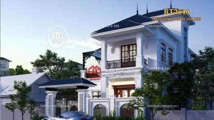 Chiêm ngưỡng biệt thự 2 tầng tân cổ mái Nhật ở Quảng Ninh