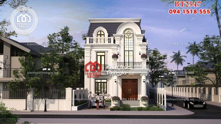 Biệt thự tân cổ điển 2 tầng kiến trúc Pháp cổtại Hải Phòng