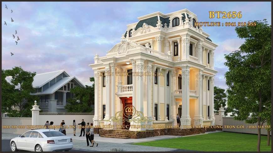 Độc đáo biệt thự tân cổ điển 3 tầng phong cách châu âu
