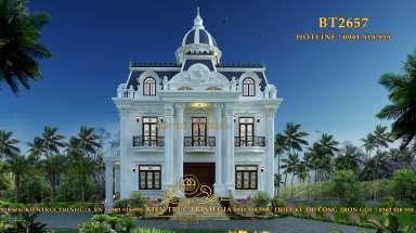 Biệt thự tân cổ điển 3 tầng lộng lẫy ở Tiền Giang