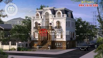 Căn biệt thự tân cổ điển 3 tầng kiến trúc Pháp ở Ninh Hiệp