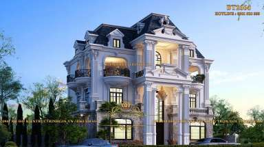 Biệt thự tân cổ điển 3 tầng kiến trúc Pháp ở Vĩnh Phúc