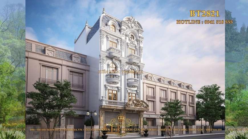 Mẫu thiết kế biệt thự tân cổ điển 5 tầng phong cách Châu Âu