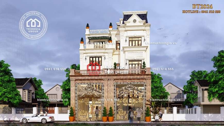 Chiêm ngưỡng biệt thự 4 tầng tân cổ điển kiến trúc Pháp ở Hà Nội