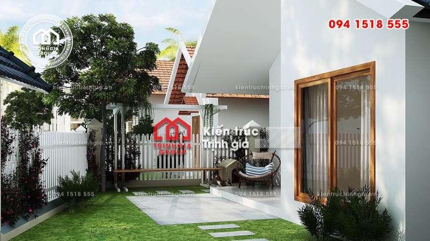 Mẫu nhà 1 tầng đẹp hiện đại giá rẻ hợp với đôi vợ chồng trẻ