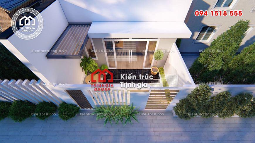 Mẫu biệt thự 1 tầng hiện đại đẹp với diện tích xây dựng 60m2