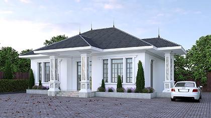 Mẫu nhà cấp 4 diện tích 60m2 đẹp cùng với kiến trúc hiện đại