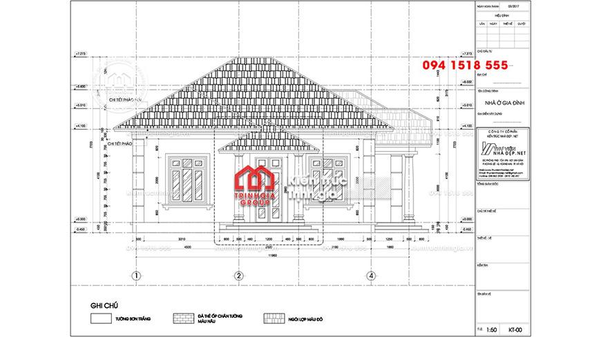 Biệt thự mini 1 tầng mái thái đẹp hiện đại được tuyển chọn