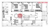 Mẫu nhà cấp 4 diện tích 8x15m có 3 phòng ngủ và chỗ để xe