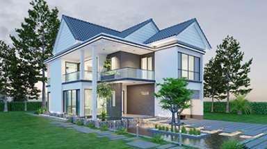 Biệt thự nhà vườn 2 tầng với thiết kế đẹp nhất cho nghỉ ngơi
