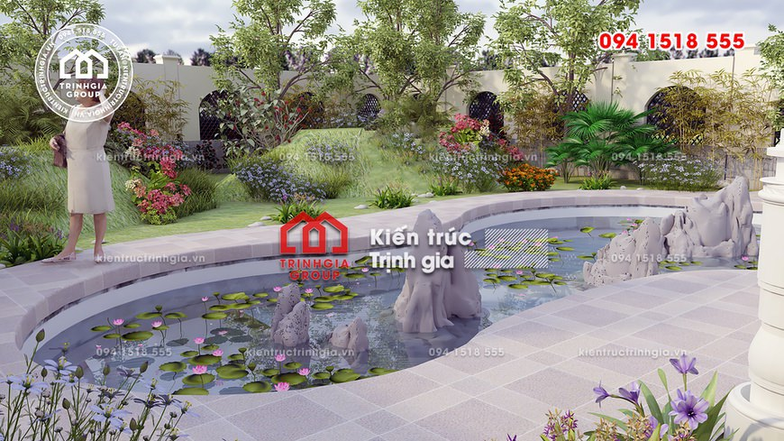 Mẫu biệt thự nhà vườn kiểu Pháp tân cổ điển sang trọng nhất