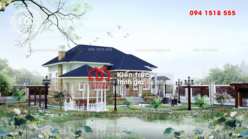 Biệt thự nhà vườn đẹp với tổng chi phí 600 triệu ở Vĩnh Phúc
