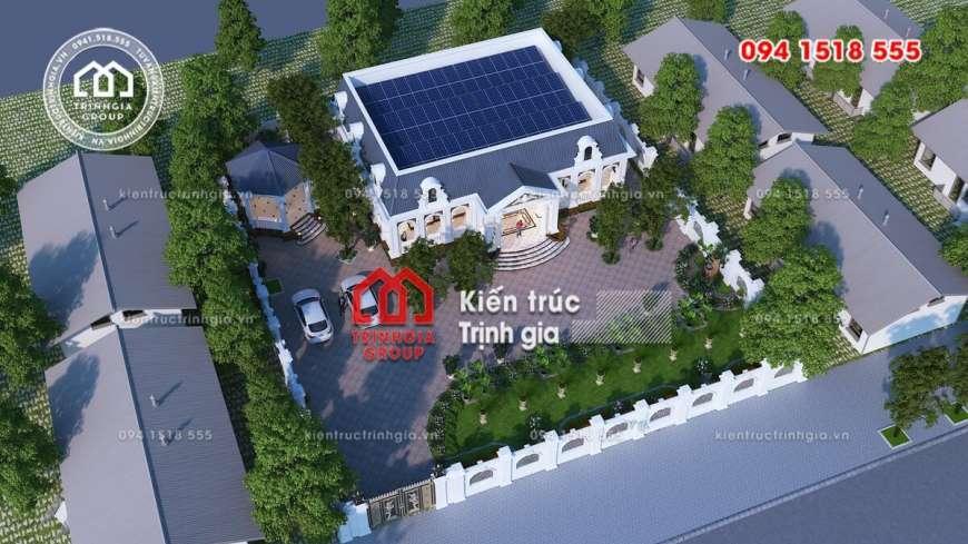 Mẫu biệt thự 1 tầng kiểu Pháp đẹp đến khó tin tại Nghệ An