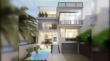 Mẫu biệt thự 4 tầng có bể bơi hiện đại đẹp mê mẩn người nhìn