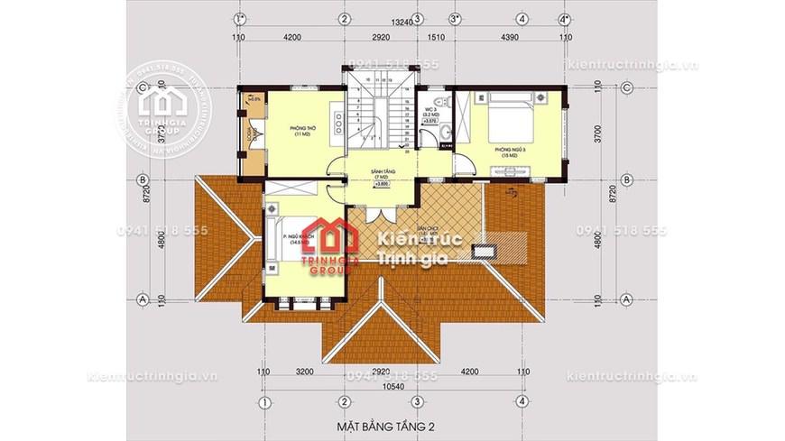 (KHÓ TIN) Mẫu thiết kế biệt thự 2 tầng chỉ với 400 triệu nhé