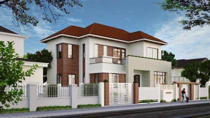 Mẫu thiết kế nhà biệt thự 2 tầng đẹp giá rẻ ở Nam Định