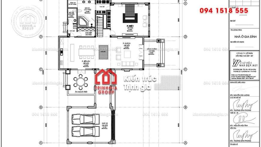 Thiết kế mẫu biệt thự mái thái đẹp 2 tầng ở Tp. Lào Cai