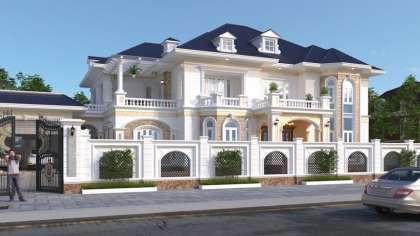 Cùng ngắm nhìn thiết kế mẫu biệt thự 2 tầng mái thái đẹp