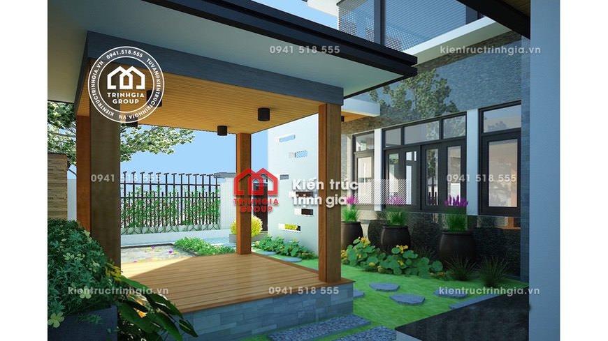 Mẫu biệt thự 2 tầng hiện đại cùng với sân vườn tại Đà Nẵng