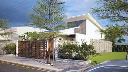 Thiết kế mẫu nhà biệt thự mini đẹp mê mẩn 65m2 ở Quảng Ninh