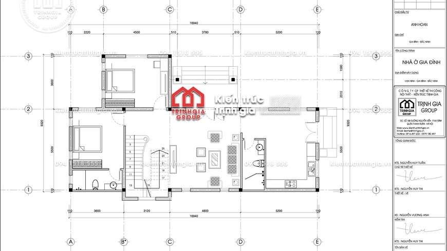 Mẫu nhà biệt thự 2 tầng hiện đại mái thái đẹp nhất ở Hà Nam