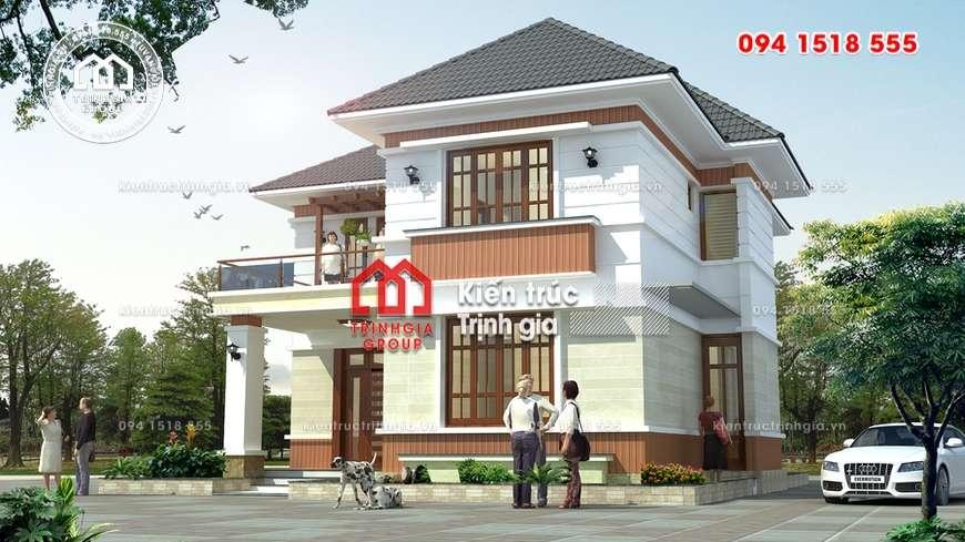 Mẫu biệt thự nhà vườn 2 tầng mái Thái đẹp ở TP HCM
