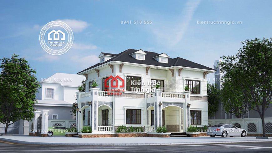 Mẫu nhà biệt thự 2 tầng mái Thái hiện đại đơn giản đẹp