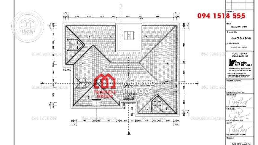 [NEW] Mẫu thiết kế nhà biệt thự 2 tầng hiện đại mái Thái đẹp