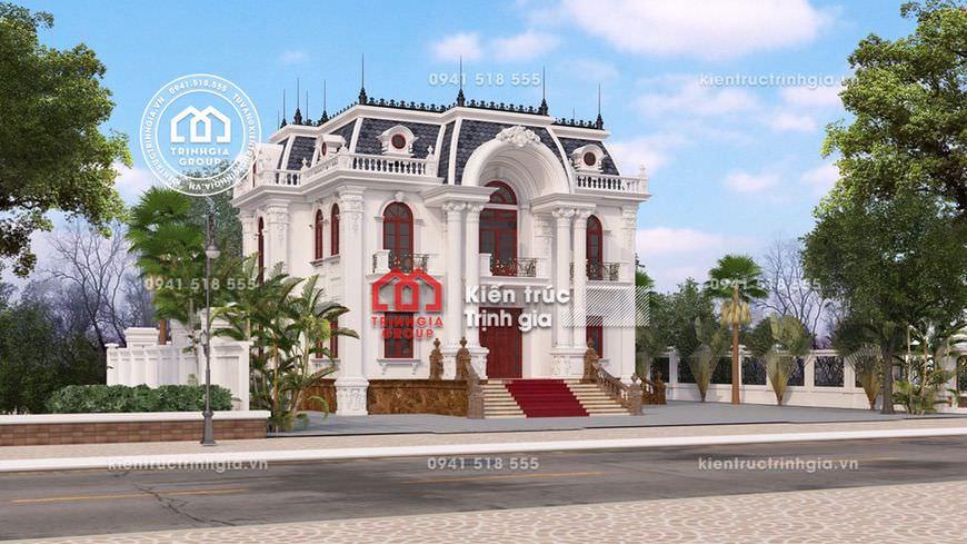 Thiết kế mẫu nhà biệt thự lâu đài 2 tầng cổ điển đẹp