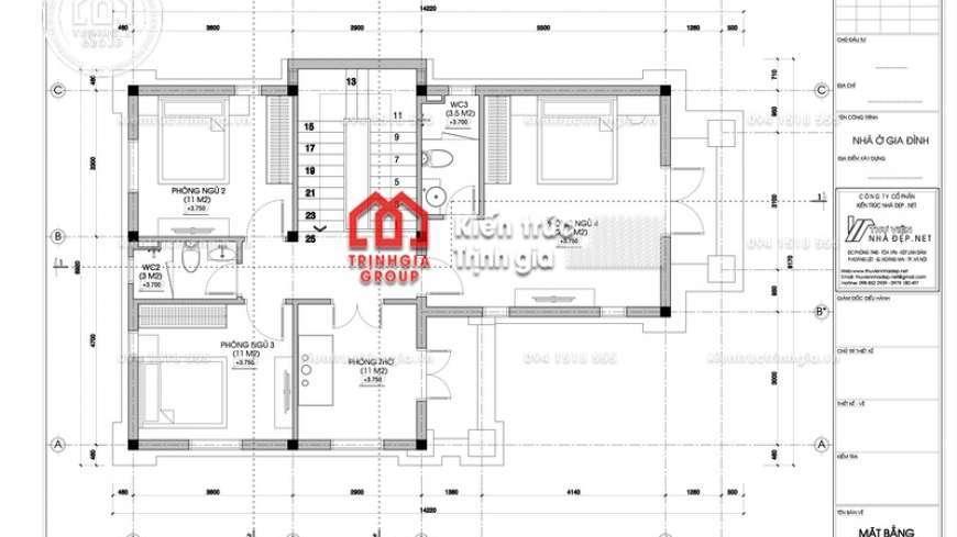 Biệt thự 2 tầng đơn giản tiết kiệm chi phí cho gia đình trẻ