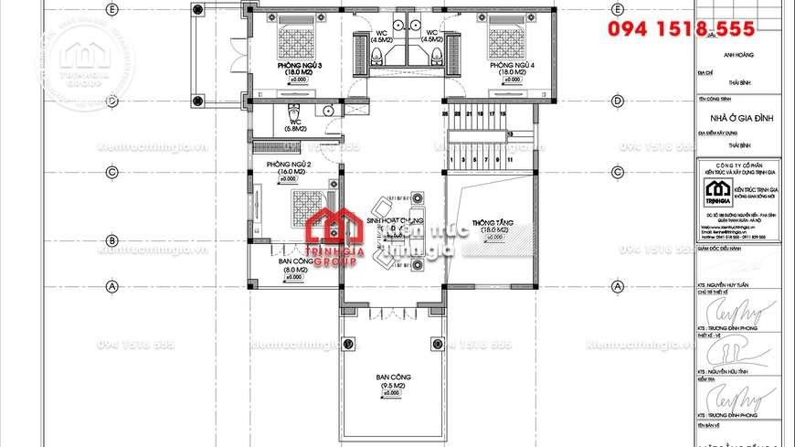 Mẫu thiết kế biệt thự 2 tầng đẹp với kiến trúc tân cổ điển