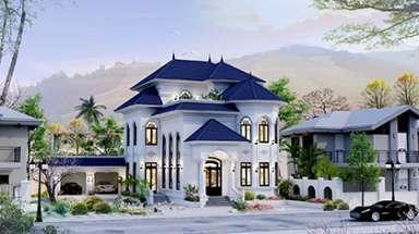 Mẫu biệt thự 2 tầng 1 tum đẹp hiện đại và sang ở Lạng Sơn
