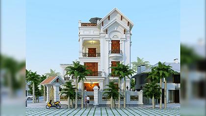 Mẫu biệt thự 3 tầng tân cổ điển đẹp làm rung động lòng người