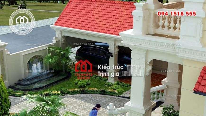 Biệt thự 300m2 tân cổ điển 3 tầng có gara để xe và sân vườn