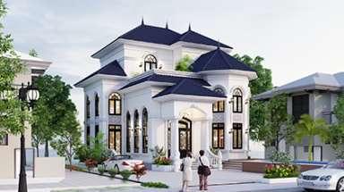 Bản vẽ thiết kế biệt thự đẹp kết cấu 3 tầng đẹp lung linh!