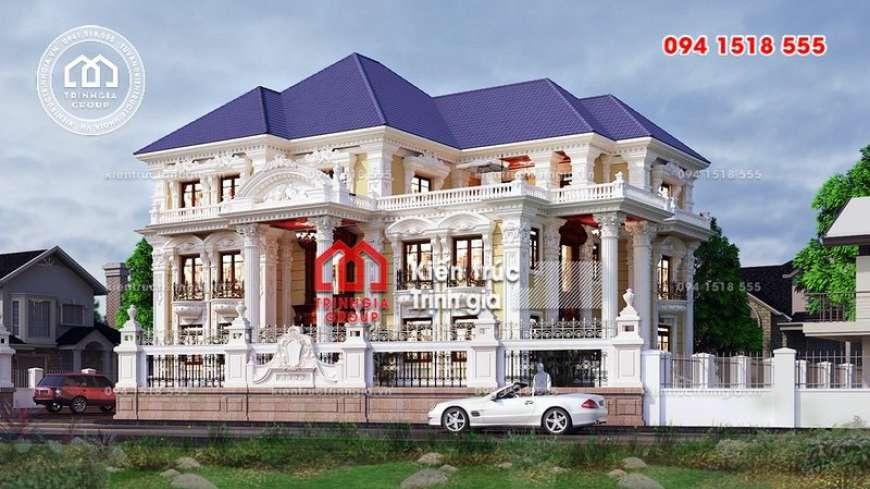 Thiết kế biệt thự kiểu Pháp hiện đại đẹp mê mẩn người nhìn!