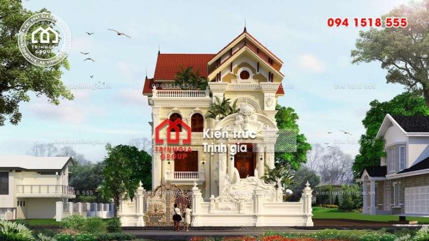 Mẫu thiết kế biệt thự 3 tầng tân cổ điển trên mảnh đất 200m2