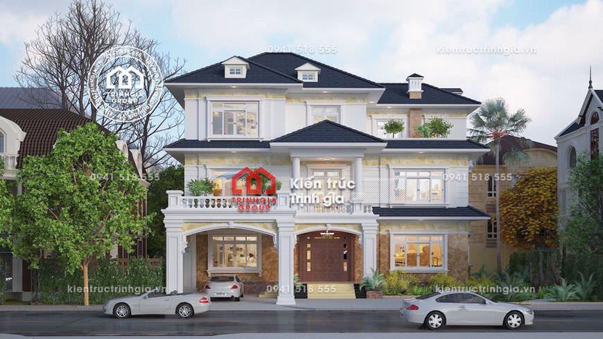 Phong cách cổ điển Pháp trong thiết kế biệt thự 3 tầng đẹp!