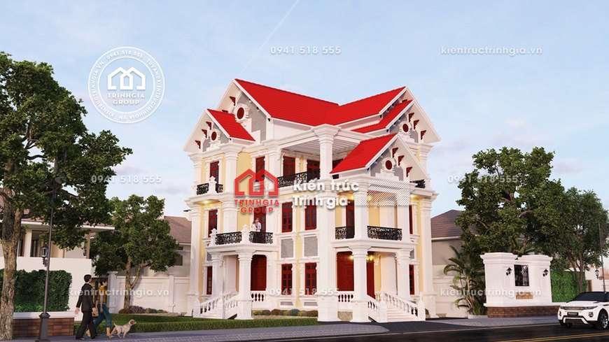 Thiết kế biệt thự phố 3 tầng với không gian mở đẹp hiện đại