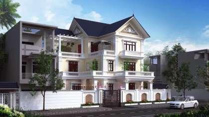 Thiết kế biệt thự ở Hà Nội kiến trúc tân cổ điển lộng lẫy