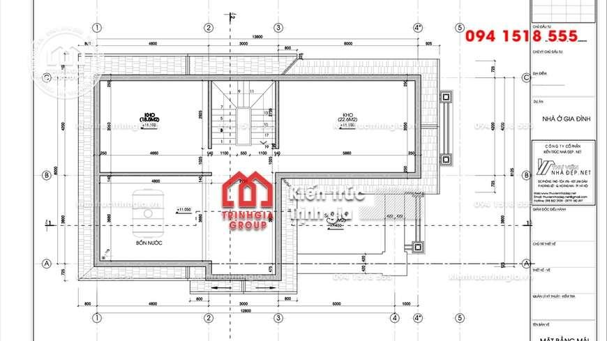 Bản thiết kế biệt thự 3 tầng kiến trúc Pháp cổ điển tinh tế