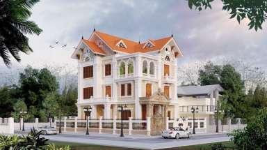 Thiết kế biệt thự ở Điện Biên kiến trúc tân cổ điển lộng lẫy
