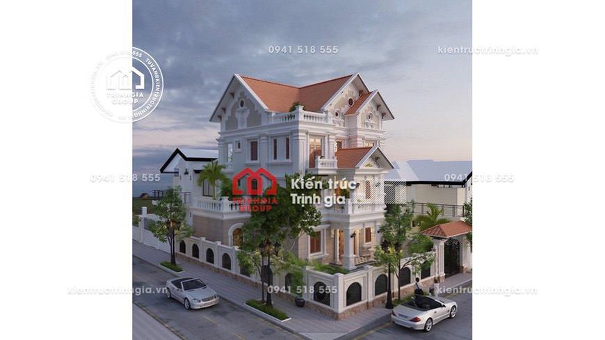 Cung cấp bản thiết kế nhà biệt thự 3 tầng mái thái hiện đại