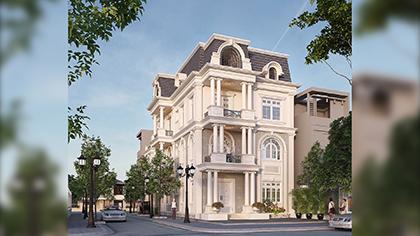 Ngỡ ngàng trước thiết kế biệt thự 4 tầng cổ điển đẹp xa hoa!