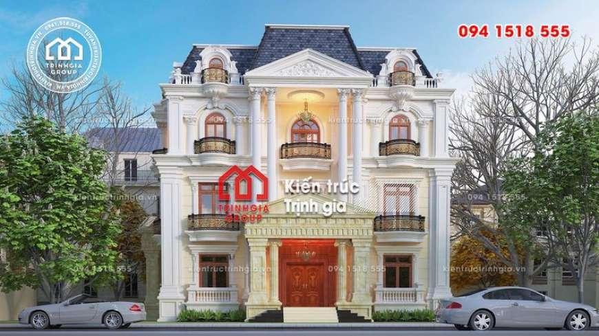 Mẫu thiết kế biệt thự kiểu Pháp 4 tầng nguy nga đẹp lộng lẫy