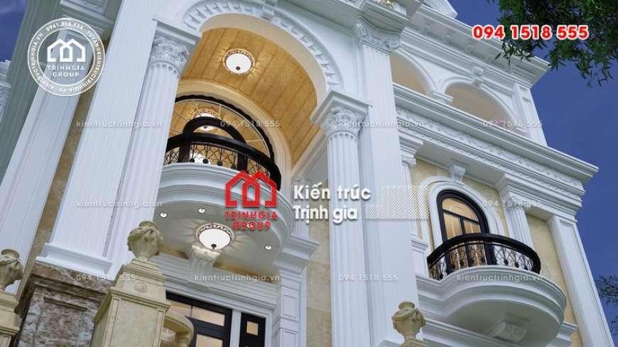 Xem ngay mẫu biệt thự tân cổ điển đẹp 4 tầng ở Quảng Ninh