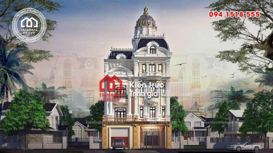 Mẫu biệt thự kiểu lâu đài đẹp có mặt tiền 10m ở Ninh Bình